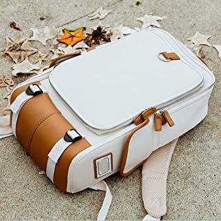Shoulder Simple Student Computer Backpack Business Backpack Outdoor Multifunction 48 * 30 * 15cm Women Bags (Color : White)