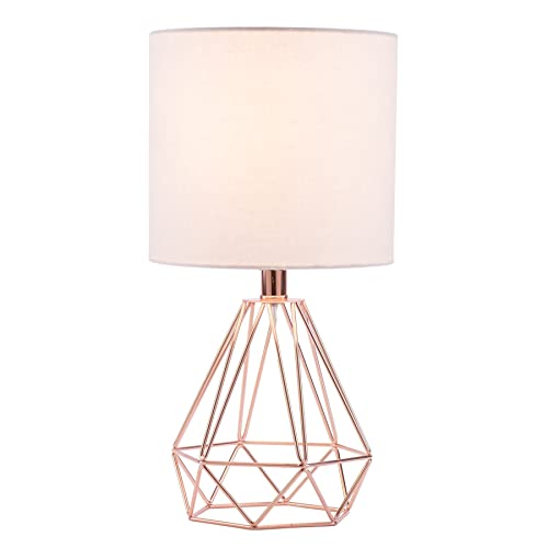 Rose gold lamps - Lamp height for bedroom night table ...