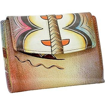 Art Craft Große Luxus Damen Geldbörse Geldbeutel mehrfarbig bunt Leder 28-05
