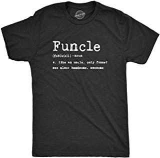 Mens Funcle Definition T Shirt Funny Graphic Uncle Family Tee Novelty Print