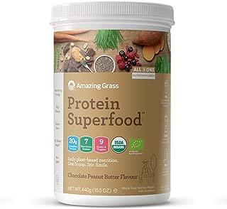 Amazing Grass Mantequilla de Maní y Chocolate, 440g | Proteína completa a base de plantas con verduras, frutas y vegetales