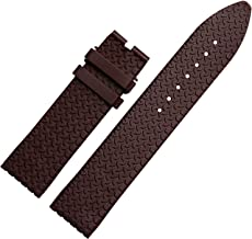 23mm Brown Rubber Watch Strap Band Compatible with Mille Miglia Watch Deployment Clasp