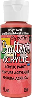 DecoArt DCA137-3 Crafter's Acrylic Paint, 2-Ounce, Bright Coral