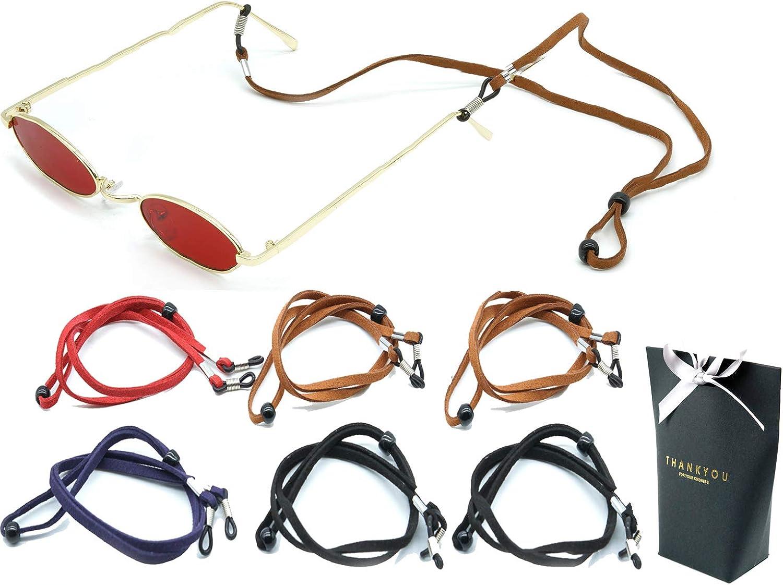Eyeglasses Sunglasses Holder Eyewear RetainerGlasses Holder Strap Cord  Leather Eyeglasses String Holder Chain Necklace