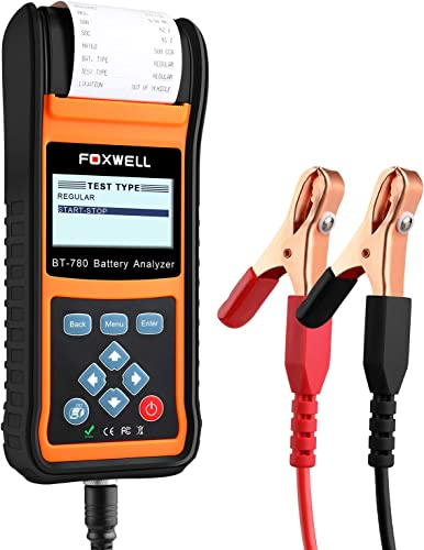 lowest FOXWELL Car Battery Load Tester for 6V 12V 24V Cranking and Charging Start-Stop lowest System Test Tool online sale BT780 Auto Batteries Analyzer with Built-in Thermal Printer outlet online sale