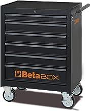 Beta C04BOX - Carrello Portautensili con ruote da 125 mm: 2 fisse e 2 girevoli ( due con freno ), 6 Cassetti estraibili co...
