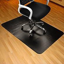 黑色椅垫适用于硬木地板,88.90x119.38cm 矩形厚实耐用多功能办公椅地板垫,适用于家庭和办公使用