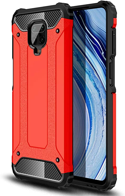 Note 9 Pro Armor Bumper Protective Shell Black TPU//PC Shockproof Phone Cover with 360/° Kickstand TANYO Case for Xiaomi Redmi Note 9S