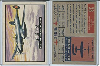 1952 Topps, Wings, 38 PE-2 Russian Attack Bomber Airplane