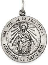 925 Sterling Silver De La Providencia Medal Pendant Charm Necklace Religious Our Lady Of Providence Fine Jewelry Gifts For Women For Her
