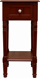 Décor Therapy Square Accent Table, 28-Inch, Red