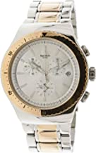 Swatch Men's So So Biggar Quartz Watch with Stainless-Steel Strap, Two Tone, 23 (Model: YOS452G)