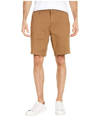Nautica Flat Front Shorts (Oyster Brown) Men