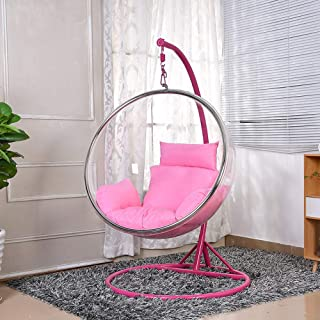 SMGPYHWYP Hanging Chair Hanging Basket,Space Acrylic Hemisphere Transparent Bubble Chair, Photo Artifact for Indoor Bedrooms, Balconies, Outdoor