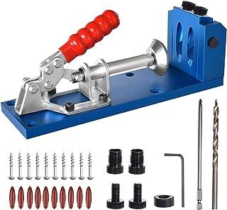 Sponsored Ad – Pocket Hole Jig System Positioner Drilling Jig All-in-One Aluminum Pocket Hole Jig Kit Positioner Drilling ...