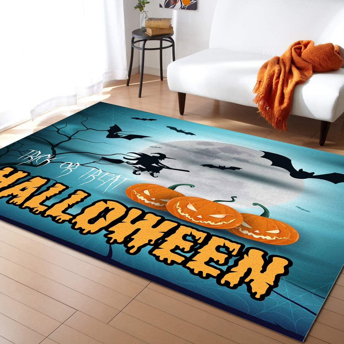Anmevor Rectangle Max 44% OFF Area Rug Runner or Max 67% OFF Treat Trick Halloween