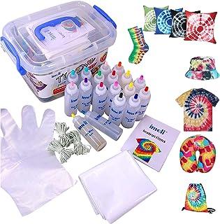 imoli Tie Dye Kit - Peintures textiles 18 couleurs vibrantes, Ensemble de teinture permanente en une étape, Idéal pour le ...