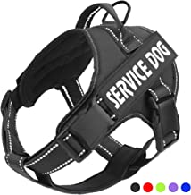 Service Dog Harness, No-Pull 3M Reflective Breathable and Easy Adjust Pet Vest with Handle Perfect for Outdoor Walking - No More Pulling, Tugging or Choking