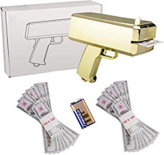 ANMEI1 Make It Rain Gold Money Gun Spray Money Gun Play Money Cash Gun Prop Money Gun Party Supplies