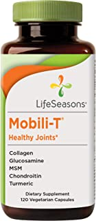 LifeSeasons - Mobili-T - Joint Pain Relief Supplement - Increase Range of Motion - Support Joint Tissue - Healthy Knee and Back Support - Contains MSM, Collagen, Chondroitin - 120 Capsules