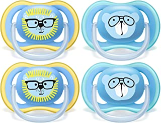 Philips AVENT Ultra Air Pacifier 18+ Months, Blue, 4 Pack, SCF349/44