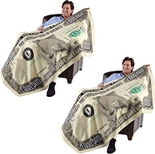 (Set of 2) Million Dollar Blanket- Gives New Meaning to Financial Security!