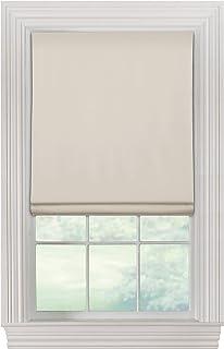 "Furniture Fresh Flat Roman Shades-Blackout, Thermal-(30"" W x 72"" L, Ivory/Off White)-Linen & Polyester-Cordless"