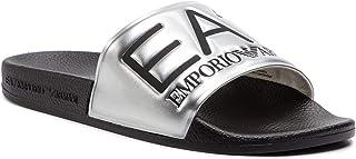 EA7 Hombre Chancla Black - Silver