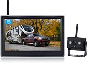 $99 » HD Digital Wireless Backup Camera High-Speed Observation System for RVs/Trucks/Vans/Pickups/Trailers with 5''Monitor Rear/...
