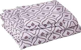 Chic Home Ayala 4 Piece Set Super Soft Two-Tone Diamond Print Geometric Pattern Deep Pocket Design – Includes Flat & Fitte...
