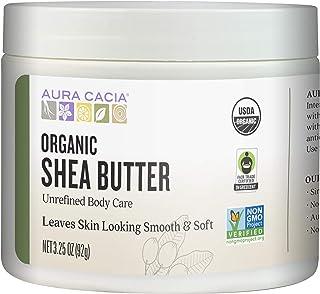 Aura Cacia Organic Shea Butter | Unrefined Body Care | 3.25 oz.