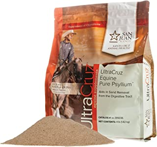 UltraCruz Equine Pure Psyllium Supplement for Horses, 4 lb (18 Day Supply)