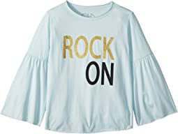 Extra Soft Vintage Jersey Rock On Flared Sleeve Tee (Little Kids/Big Kids)