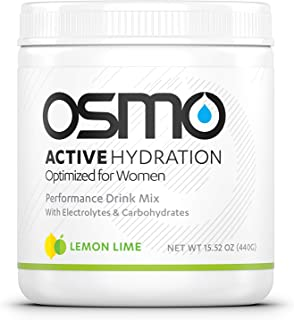 OSMO Nutrition - Active Hydration Optimized for Women - During-Exercise Hydration Powdered Drink Mix - Avoid Performance Decline - Improve Power Output & Endurance - Lemon Lime - 40 Serving Tub