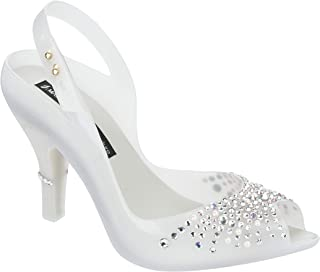 melissa Shoes Womens Lady Dragon Wedding + J. MASK SP Size 5 M US White