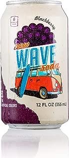 New Wave Soda, Soda Water Juice Blackberry Natural Caffeine, 12 Fl Oz
