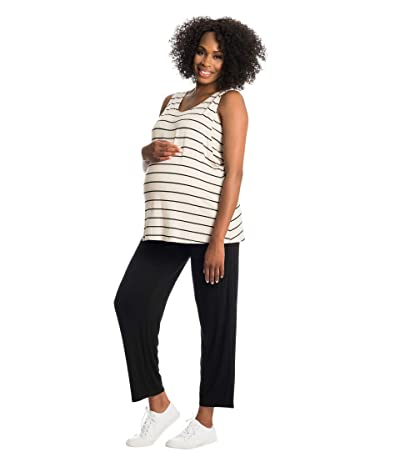 Everly Grey Jacqueline Maternity/Nursing Two-Piece Set (Sand Stripe) Women