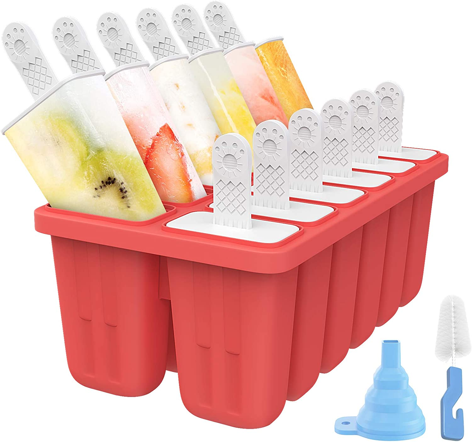 cheap Ozera 12 Cavities Popsicle Molds Mol Reusable Silicone Be super welcome