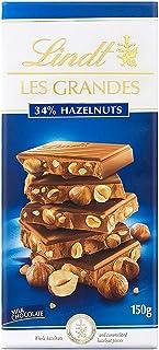 Lindt Les Grandes Milk Hazel Nut Chocolate, 150 gm (Pack of 1)