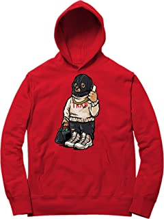 Platinum Tint 11 Trap Bear Hoodie to Match Jordan 11 Platinum Tint Sneakers Red t-Shirts