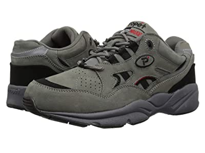 Propet Stability Walker Medicare/HCPCS Code = A5500 Diabetic Shoe (Grey/Black Nubuck) Men