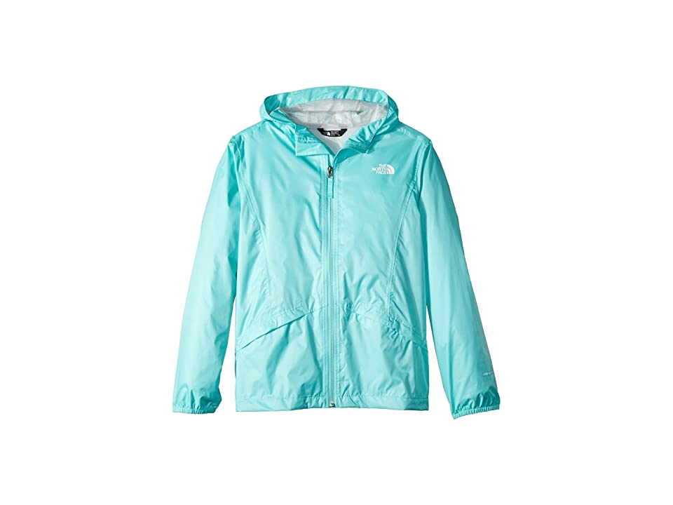 The North Face Kids Zipline Rain Jacket (Little Kids/Big Kids) (Mint Blue) Girl