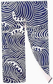 "Myru Noren Waves Japanese Noren Curtain Wave Doorway(53"" x 33.45"", Great Wave)"