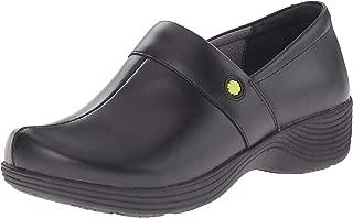 Dansko Women's Camellia Clog, Black Leather, 39 Medium EU (8.5-9 US)