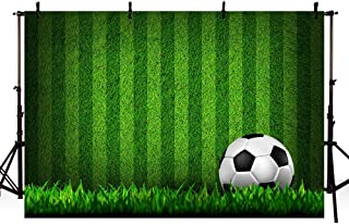 MEHOFOTO Soccer Boy Birthday Party Photo Studio Background Banner Football Field Boy Baby Shower Party Decoration Backdrop Props for Photography 7x5ft
