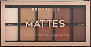 Profusion Cosmetics Mini Artistry 10 Shade Eyeshadow Palette, Mattes