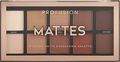 Profusion Cosmetics Mini Artistry 10 Shade Eyeshadow Palette, Mattes