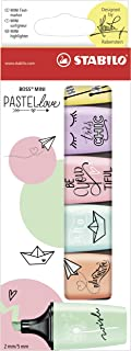 قلم تحديد - STABILO BOSS MINI Pastellove - محفظة بها 6 (ألوان متنوعة)