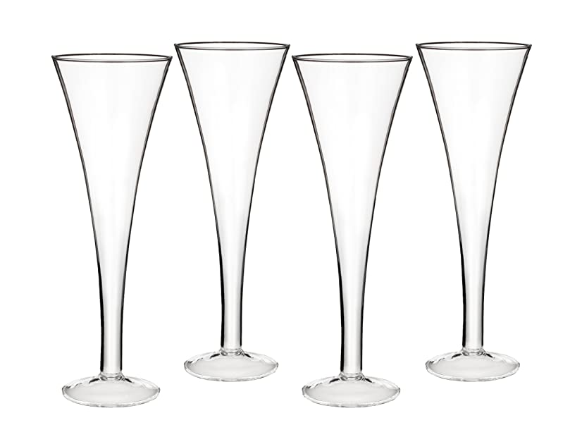 拳リース始めるMarquis by Waterford Entertaining Collection Vintage Classic Trumpet Flute, 6.7-Ounce, Set of 4 by Marquis By Waterford
