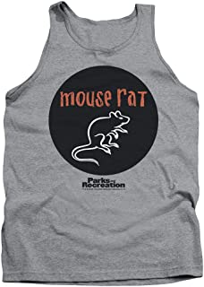 Parks and Recreation Comedy Series Mouse Rat Band Logo Adult Tank Top Shirt